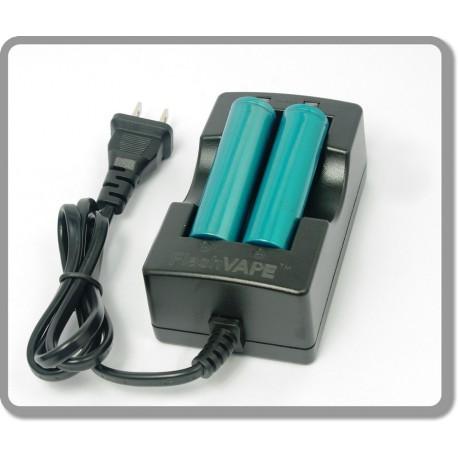 Chargeur double intelligent FlashVape + 2 batteries