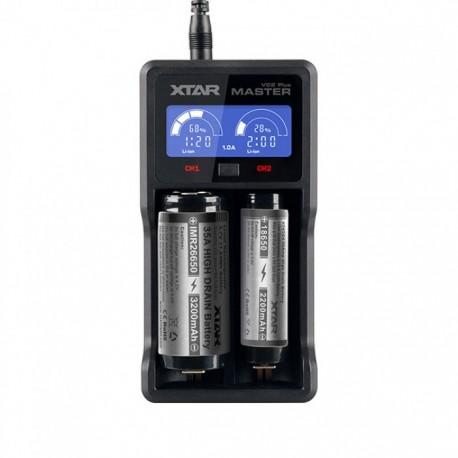 XTAR VC2 - Chargeur de batterie avec écran LCD
