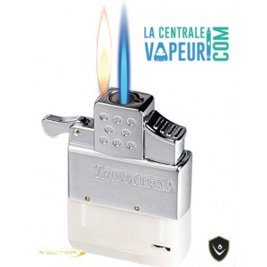The Thunderbird Vector – Briquet Tempête flamme convertible – Thunderbird Dual-Flame - Vector Pocket Lighter
