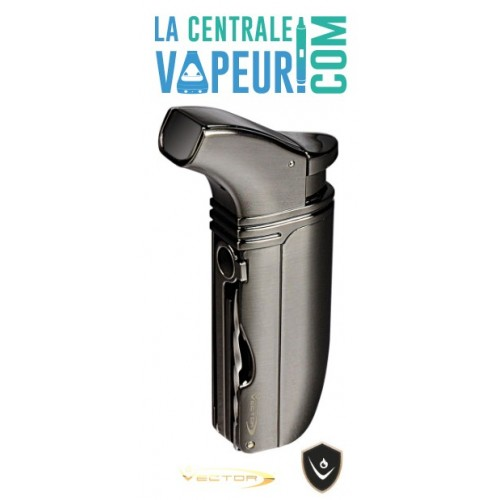 Arsenal Vector– Briquet torche double flamme avec punch poker –