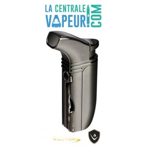 Arsenal Vector – Briquet torche double flammes avec punch poker - Vector Pocket Lighter