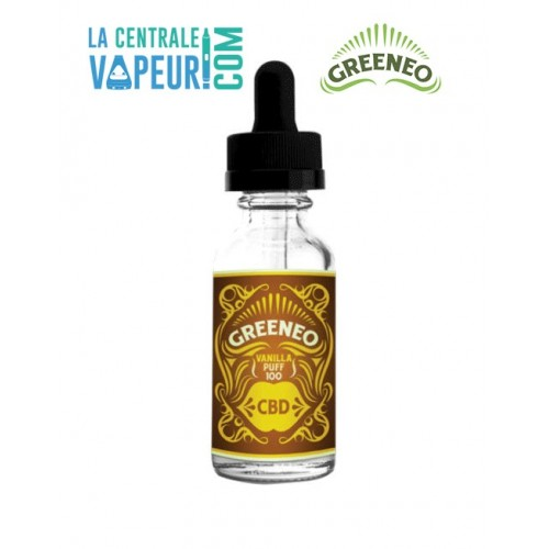 Vanilla Puff Greeneo - 10ml - E-liquide avec ou sans CBD / Liquide pour cigarette électronique