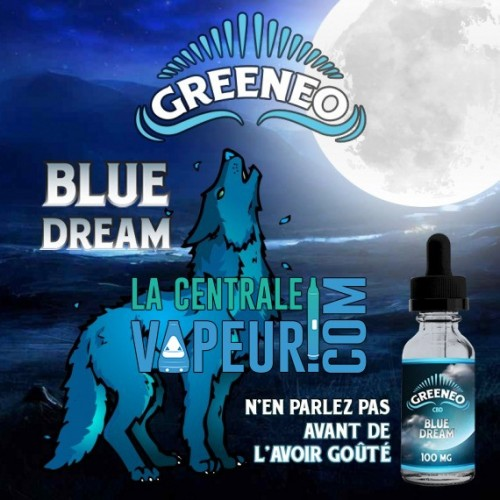 Blue Dream Greeneo - 10ml - E-liquide avec ou sans CBD / Liquide pour cigarette électronique