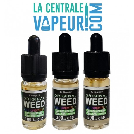 Original Weed – E-Liquide CBD CANNA-BINOIDE - 300 / 500 / 1000 mg