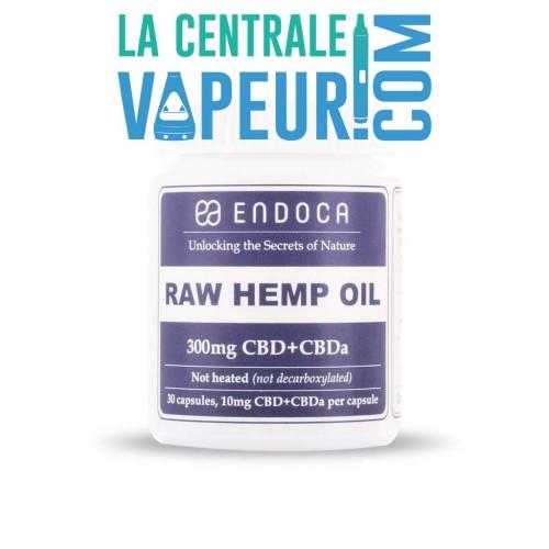 Capsules d'huile de chanvre pure 300 mg CBD + CBDa - Endoca