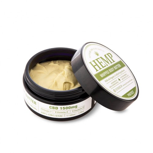 Beurre corporel au chanvre 100ml pour 1500mg CBD Endoca - CBD salve