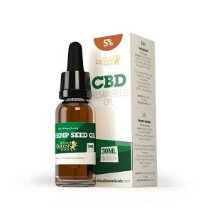 5 ou 20% de CBD - Huile de graine de chanvre au CBD Royal Queen Seeds