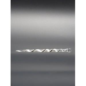 Dabber torsadé noir et blanc en verre - Katalizer