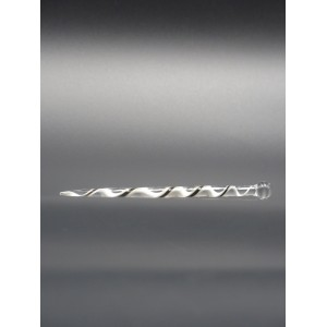 Dabber torsadé noir et blanc en verre - Katalyzer