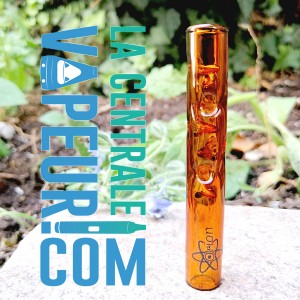 Tube d'Hestia Orion - 8 cm - orange glass stem pour Dynavap