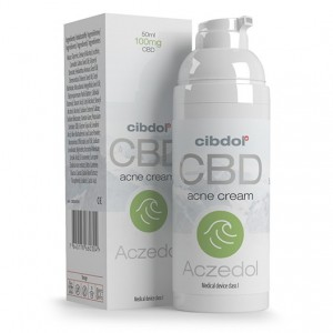 Aczedol - Crème Anti-Acne CBD 100 mg pour 50ml - Cibdol