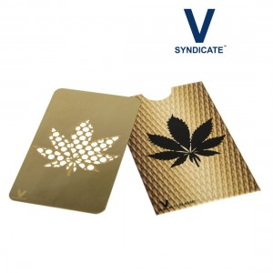 Carte Grinder V-Syndicate Feuille Or Gold leaf