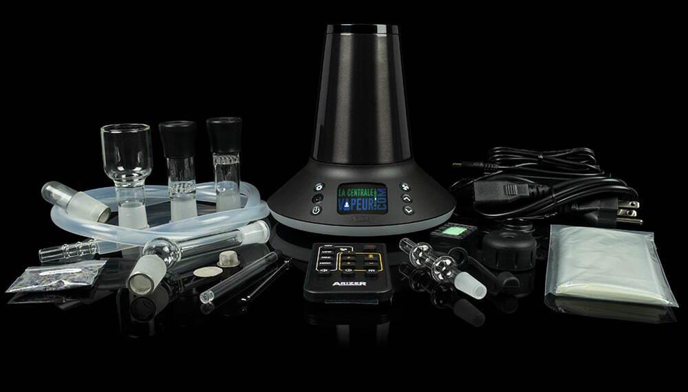 L'Arizer XQ2 et ses nombreux accessoires fournis