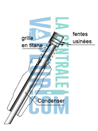 Le condenser permettra de réduire la taille du bol