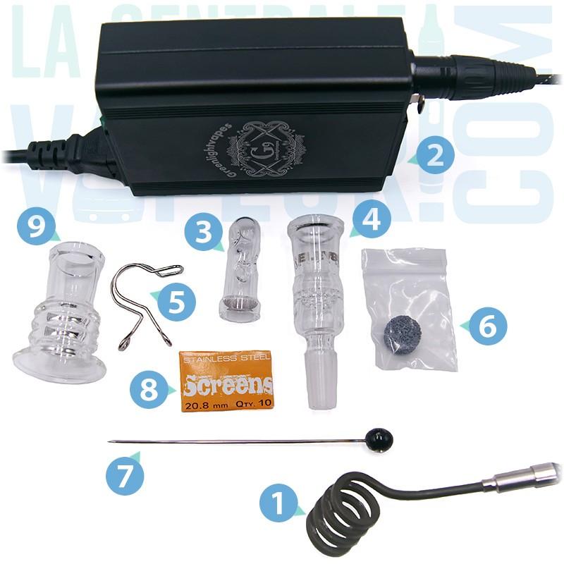 Contenu du Elev8R e-heater full kit